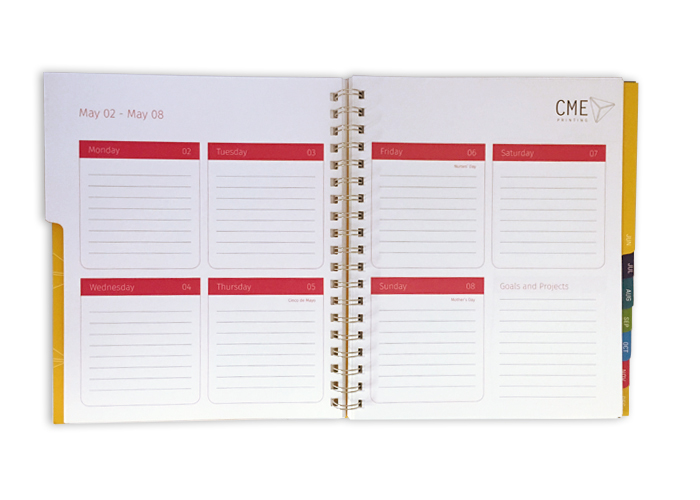 2017 Wire-O Planner, Digital Printing, Christmas in July